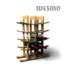 Многослойная карбонизированная бамбуковая винная стойка