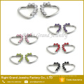 16 Gauge lila Herz links Schließung Daith Prong Set Zirkonia Tragring Ohrring