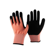 NMSAFETY cut resistant work safety glove nitrile supplies