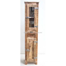 rough mango wood industrial design cabinet