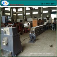 CE alta capacidad PET/PE/PP/ABS forma escamas máquina de granulación de plástico
