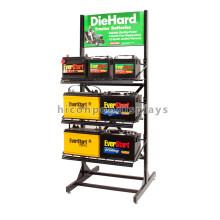 Personalizado de 3 capas de metal de piso Commercial Baterías de visualización Automotriz Car Battery Storage Rack