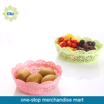 round shape plastic carry basket