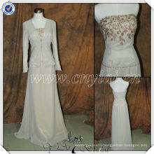 PP2706 Elegant Chiffon bling bling champagne mother of the bride lace dresses