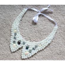 Frau Mode Modeschmuck Perle Chunky Halskette Halsband (JE0147)
