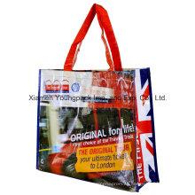 Bolsa de compras reutilizable grande reutilizable de los PP del tejido laminado pesado