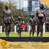 modern bronze garden family sculpture hot sale