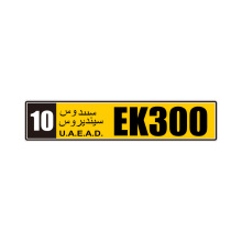 European Standard Car Number Plate With Reflective Film