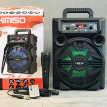 QS-5801D 8 Inch Speaker Outdoor Portable Trolley Speaker DJ Speaker System Subwoofer Sound Box With LED Light KIMISO