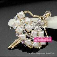 Meilleure vente jolie belle danseuse moderne gemme pierre cristal broche