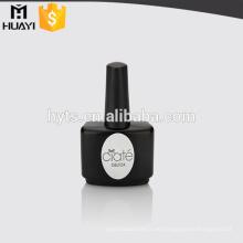 leeres schwarzes Glas große Flasche Nagellack Flasche