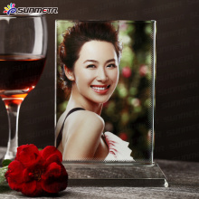 FREESUB Transfert de chaleur Crystal Photo Frame Wedding Gift