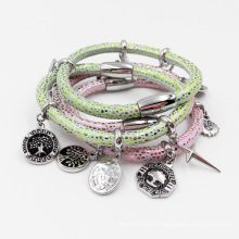 Fabrik Großhandel Stingray Lederarmband mit Custom Made Charms