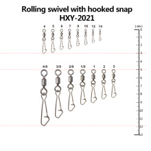 Wholesale Fishing Rolling Swivel with Hooked Snap