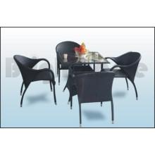 Muebles de ratán - Silla de jardín y mesa (BT-641)