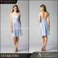 OEM factory ladies cold shoulder evening dress