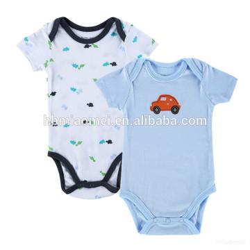 High quality unisex children onesie bodysuit cotton lovely newborn soft plain printing animal baby romper