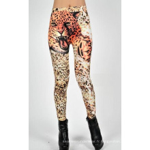 Filles sexy collants sans couture Leopard Print Leggings Jean