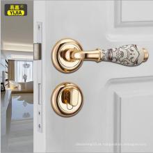 Alto grau de cerâmica esculpida zinco fechadura da maçaneta da porta