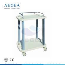 AG-LPT005A ABS 2-Schicht-Krankenhaus Instrument Service-Dienstprogramm Wagen Kunststoff-Wagen