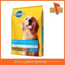 Embalagem de alimentos fornecedor de china venda quente aceitar encomendar personalizado tipo de saco de papel stand up saco de embalagem de alimentos para cães com impressão