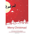 Árbol de navidad rojo Copos de nieve Navidad gracias Tarjeta de felicitación Tarjeta de agradecimiento Venta al por mayor