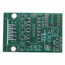 Double-sided PCB, Different Mask, Yellow and Back Mask, White Legend FR-4, 1.0mm Board Thickness