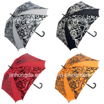 8 Panels Flower Printing Straight Golf Umbrella (YSGO0005)