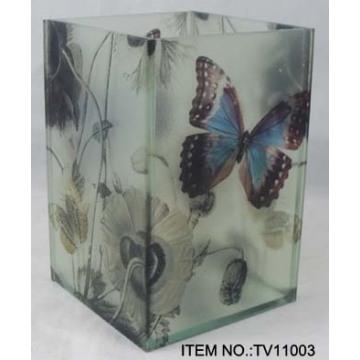 florero de vidrio de cristal de alta calidad