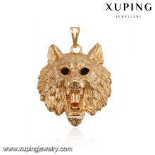 32522 xuping fashion gold 18k copper alloy animal lion women pendant
