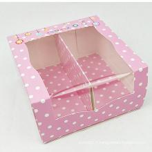 Boîtes mignonnes faites sur commande d'emballage de chaussures de bébé de fenêtre de PVC