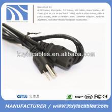 3-Zinken US-Standard-PC-Netzkabelkabel