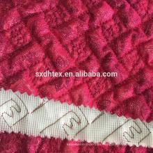 hoja tela quilting de encaje, tejido acolchado térmico para la ropa de la hoja