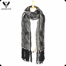 2016 Women′s Crochet Cable Pattern Thick Warm Winter Scarf Long Fringes