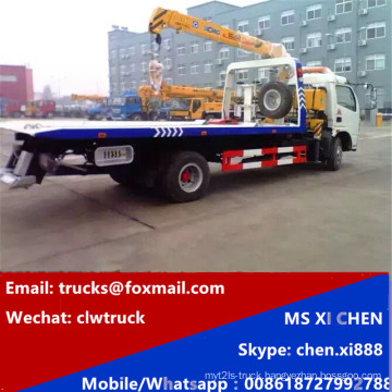 Dongfeng 5 Ton Road Platform Wrecker with Crane