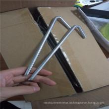 Verzinkter Stahl-Zeltpflock / im Freien kampierende Stahlnagel-Heringe