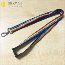 Gifts custom polyester free sample rainbow lanyard