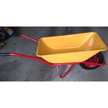Carretilla de rueda concreta para cargar arena