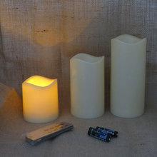 Lumières de bougie menées à distance de contrôle de clé de batterie
