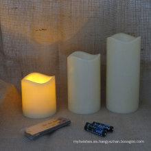 Batería de control remoto con control remoto y luces de vela.