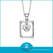 Elegant Fashion Rhodium Plated Silver Jewelry Pendant (SH-N0082)
