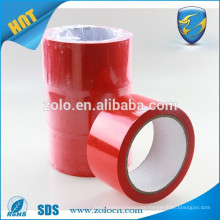 ZOLO high quality anti-theft bopp 48mm red transparent packing tape open VOID