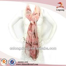 100% Silk Chiffon Pashmina Shawl
