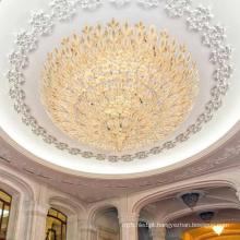 Lustre de teto de luxo dourado do corredor do hotel