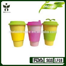 E-co vert BAMBOO FIBRE tasse à café avec housse en silicone