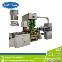 Cotainer de Foil de aluminio profesional que hace la máquina (CE)