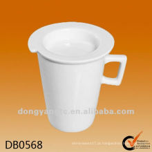 Copos de café em cerâmica de design decalque com tampa
