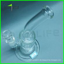 2015 Neue Modelle Glasrohre Zubehör. Rauchende Glaspfeife, heißes Verkaufs-Glas-Rauchen-Wasser-Rohr