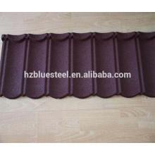 Azulejo de acero revestido de la teja Azotea de la azotea para el material del azotea, Azulejo de piedra revestido colorido barato del precio para el azotea del chalet