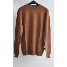 Homens cor pura em torno do pescoço camisola pullover tricô